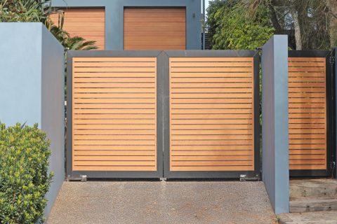 Portail design en bois