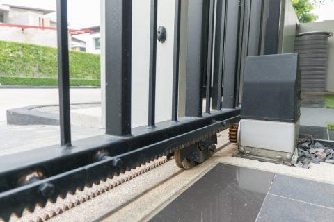 Détail des rails de portail