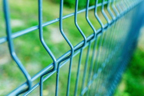 Détail d'une clôture matéllique